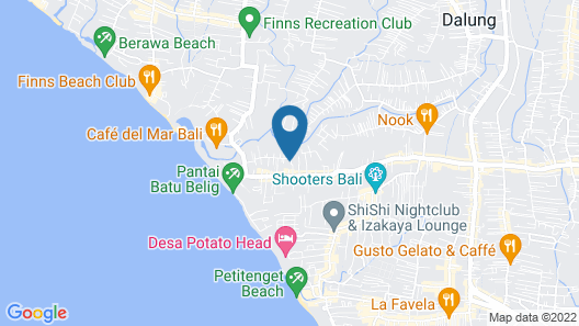 Beautiful Villa With Private Pool, Bali Villa 2051 Map