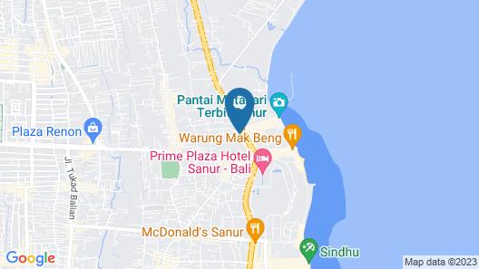 Sanur Agung Hotel Map