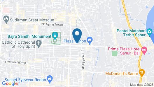 Taman Suci Suite and Villas Map