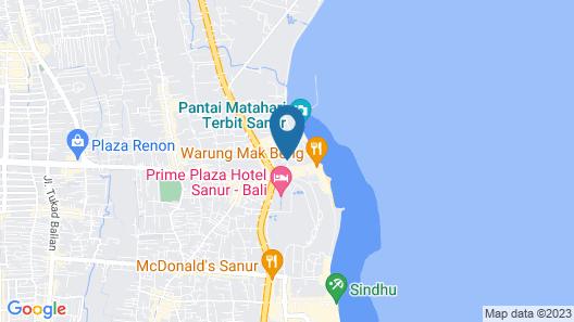 Mentari Sanur Hotel Map