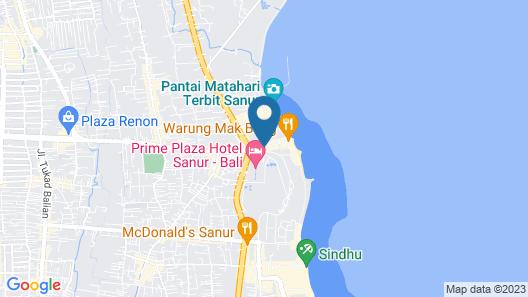 Inna Bali Beach Garden Map