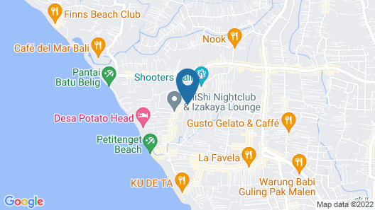 Jambuluwuk Oceano Seminyak Hotel Map
