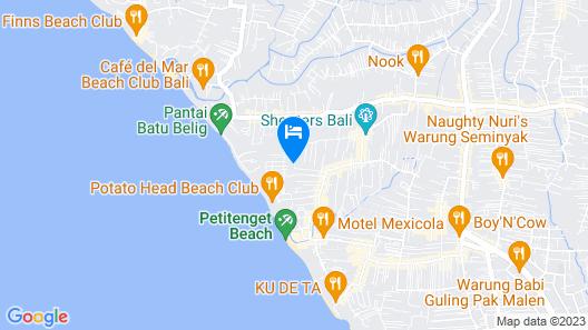 de Vins Sky Hotel Seminyak Map
