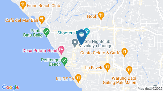 Bali Ayu Hotel And Villas Map