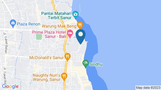 Inna Grand Bali Beach Map