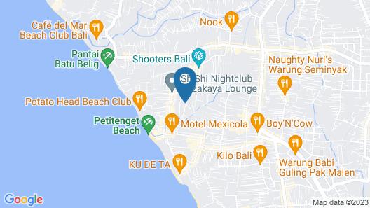 La Villais Kamojang Seminyak - Bali Map