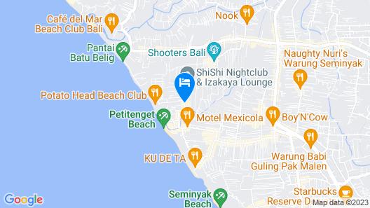 Dash Hotel Seminyak Map