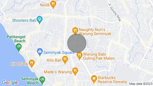 Kayu Mas, 3 Bedroom Villa, Seminyak Map