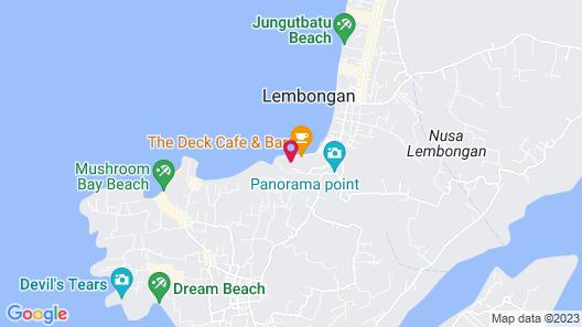 Aqua Nusa - Boutique Lembongan Villas Map