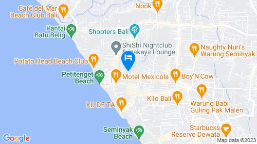 Peppers Seminyak Map