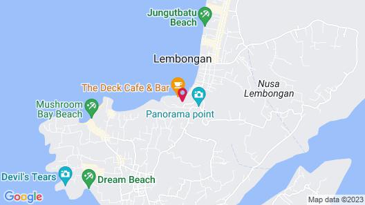 Lembongan Sanctuary Villas Map