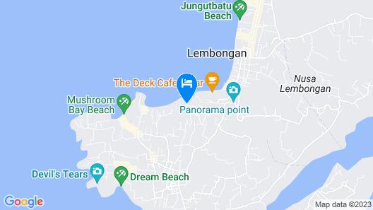 Lembongan Cliff Villas Map