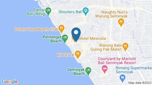 Sense Hotel Seminyak Map