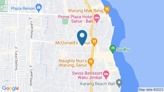 OYO 2122 Puri Sanur Map