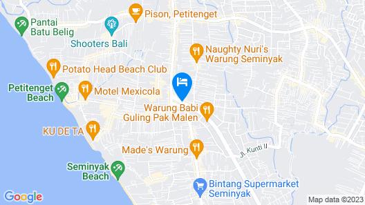 The Trans Resort Bali Map