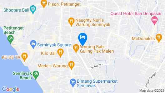 The Bali Dream Villa Seminyak Map