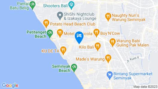 U Paasha Seminyak Bali Map