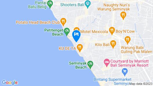 The Legian, Bali Map