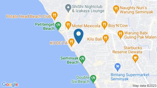 C151 Smart Villas at Seminyak Map