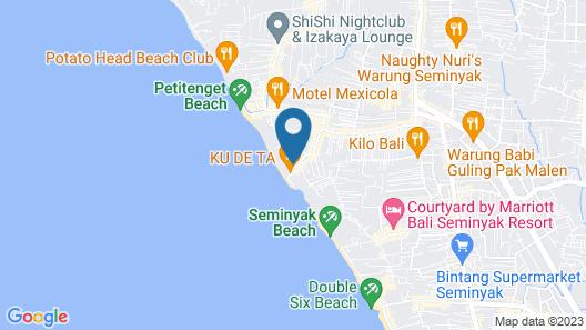The Oberoi Beach Resort, Bali Map