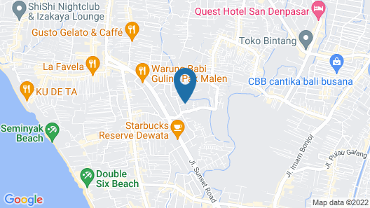 Bali Swiss Villa Map