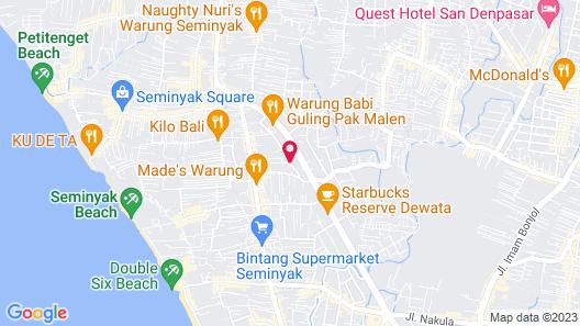 Nyuh Bali Luxury Villas Map