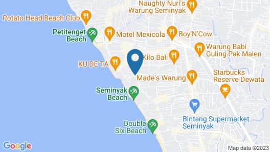 The Elysian Boutique Villa Hotel Map