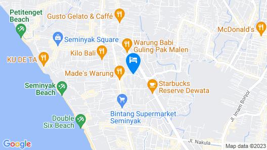 Villa Seriska Seminyak Bali Map