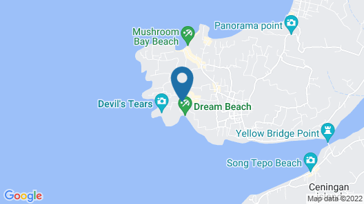The Cozy Villas Lembongan Map