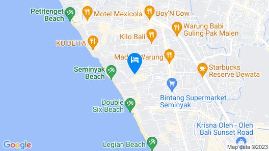 Le Jardin Villas Seminyak Map