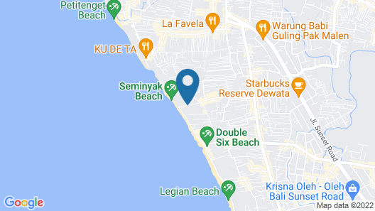 The Royal Beach Seminyak Bali - MGallery Collection Map