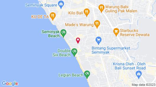 Pelangi Bali Hotel & Spa Map