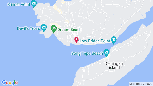 Laguna Reef Huts Map