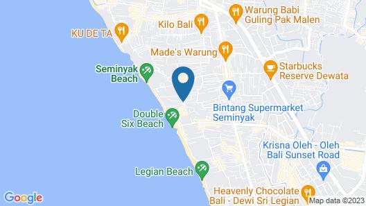 Puri Saron Seminyak Map