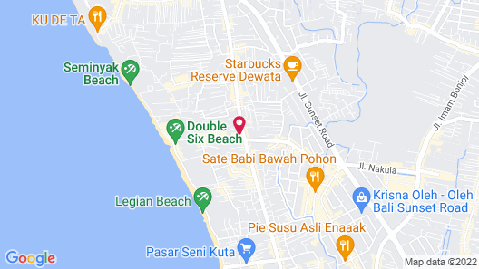 THE HAVEN Bali Seminyak Map