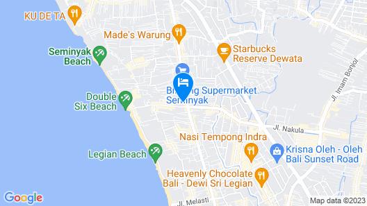 THE HAVEN Bali Seminyak Map