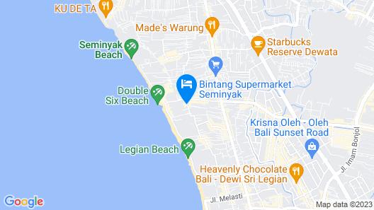 Ananta Legian Hotel Map