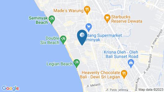 Astagina Resort Villa and Spa Map