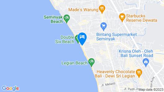 FuramaXclusive Ocean Beach, Seminyak, Bali Map