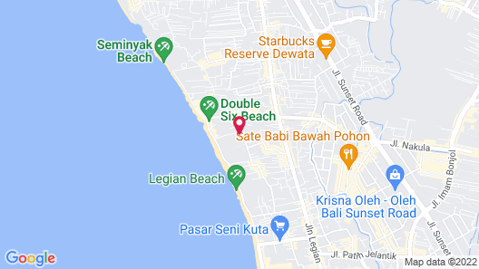 Hotel Kumala Pantai Map