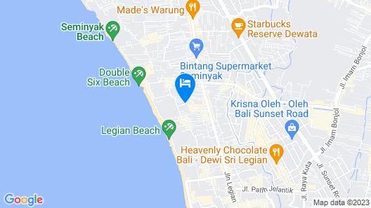 The Jayakarta Bali Map