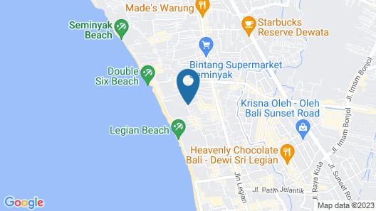 Zest Hotel Legian Map