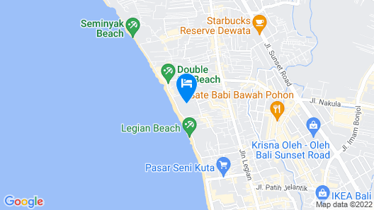 Club Bali Family Suites @Legian Beach Map