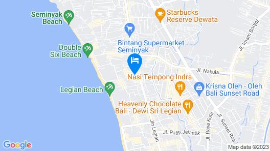 AQ-VA Hotel & Villas Seminyak Map