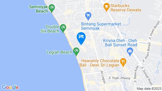 Away Bali Legian Camakila Resort Map