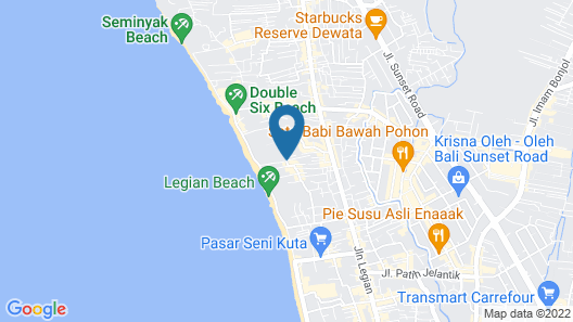 Bali Chaya Hotel Legian Map