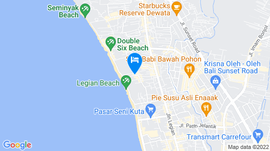 Ossotel Legian Bali Map