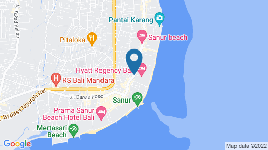 Hyatt Regency Bali Map