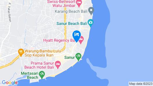 Hyatt Regency Bali Map