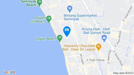 Melasti Beach Resort & Spa Map